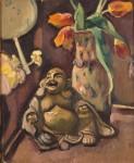 Живопись | Отон Фриез | Натюрморт со статуэткой Будды, 1909