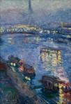 Живопись | Отон Фриез | Сена в Париже. Мост Гренель, 1901