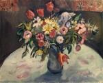 Живопись | Отон Фриез | Тюльпаны и маргаритки, 1910