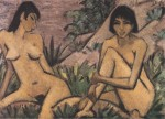 Живопись   Отто Мюллер   Две девушки в дюнах, 1926