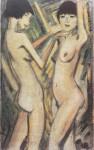 Живопись   Отто Мюллер   Две девушки, 1920