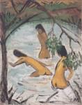 Живопись   Отто Мюллер   Три купальщицы в воде, 1913
