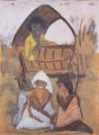 Живопись   Отто Мюллер   Цыганский табор, 1927