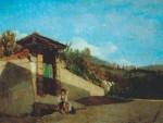Живопись | Серафино де Тиволи | Крыльцо тосканского дома, недалеко от Флоренции, 1861