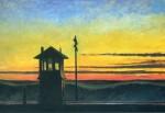 Живопись | Эдвард Хоппер | Железная дорога. Закат, 1929