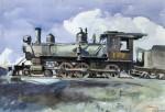 Живопись | Эдвард Хоппер | Локомотив D. & R. G., 1925