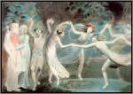 Иллюстрация | Уильям Блейк | Оберон, Титания и Пак с танцующими феями, 1786