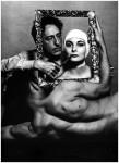 Фотография | Филипп Халсман | Жан Кокто, актриса Рики Сома и танцор Лео Коулман