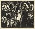 Гравюра | Карл Шмидт-Ротлуф | Христос и женщина, взятая в прелюбодеянии, 1918