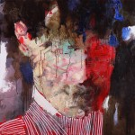 Живопись | Александр Жерноклюев | Мужчина в полосатом пиджаке, 2016
