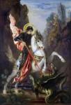 Живопись | Гюстав Моро | Святой Георгий и дракон, 1889-90