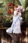 Живопись | Джеймс Тиссо | Букет сирени, 1875