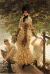 Живопись | Джеймс Тиссо | На Темзе, 1882