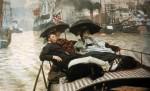 Живопись | Джеймс Тиссо | Темза, 1867