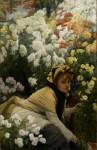 Живопись | Джеймс Тиссо | Хризантемы, 1875