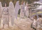 Живопись | Джеймс Тиссо | Adam and Eve. Driven From Paradise, 1896-1902