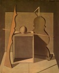 Живопись   Джорджо Моранди   Метафизичечкиq натюрморт с треугольником, 1919