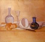 Живопись   Джорджо Моранди   Натюрморт (Синяя ваза), 1920