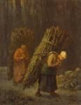 Живопись | Жан-Франсуа Милле | Крестьянки с хворостом, 1852