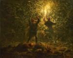 Живопись | Жан-Франсуа Милле | Ночная охота на птиц, 1874