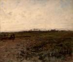 Живопись | Жан-Франсуа Милле | Пейзаж с двумя крестьянками, 1870-75
