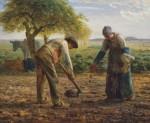 Живопись | Жан-Франсуа Милле | Посадка картофеля, 1862