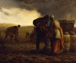 Живопись | Жан-Франсуа Милле | Уборка картофеля, 1855