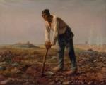 Живопись | Жан-Франсуа Милле | Человек с мотыгой, 1860-62