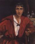 Живопись | Зинаида Серебрякова | Автопортрет в красном, 1921