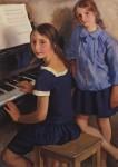 Живопись | Зинаида Серебрякова | Девочки у рояля, 1922