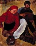 Живопись | Зинаида Серебрякова | Крестьяне. Обед, 1914