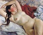Живопись | Зинаида Серебрякова | Лежащая обнаженная портрет m-lle Неведомской. 1935