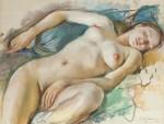 Живопись | Зинаида Серебрякова | Лежащая обнаженная, 1929