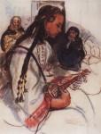 Живопись | Зинаида Серебрякова | Мальчик-музыкант, 1928