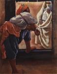 Живопись | Зинаида Серебрякова | Марокко. Фигуры в дверях, 1928