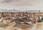Живопись | Зинаида Серебрякова | Марракеш. Вид с террасы на горы Атласа, 1928
