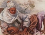 Живопись | Зинаида Серебрякова | Молодая женщина в белом головном уборе, 1928