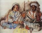 Живопись | Зинаида Серебрякова | Музыканты (араб и негр), 1928