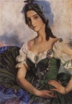 Живопись | Зинаида Серебрякова | Портрет А.Д. Даниловой в театральном костюме, 1922