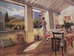 Живопись | Зинаида Серебрякова | Терраса в Коллиуре, 1930
