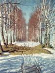 Живопись | Игорь Грабарь | Березовая аллея, 1940