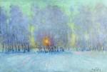 Живопись | Игорь Грабарь | Иней. Восход солнца, 1941