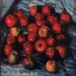 Живопись | Игорь Грабарь | Красные яблоки на синей скатерти, 1920