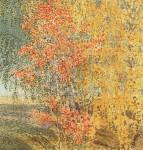 Живопись | Игорь Грабарь | Осень. Рябина и березы, 1924