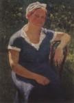 Живопись | Игорь Грабарь | Портрет Валентины Михайловны Грабарь, жены художника, 1931