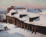 Живопись | Игорь Грабарь | Старый сарай в морозный день, 1933