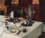 Живопись | Игорь Грабарь | Утренний чай. Подснежники, 1939-54