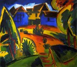 Живопись | Карл Шмидт-Ротлуф | Деревенская площадь, 1919