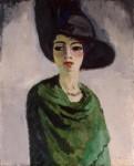 Живопись | Кес ван Донген | Женщина в черной шляпе, 1908