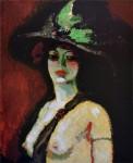 Живопись | Кес ван Донген | Женщина в широкополой шляпе, 1906